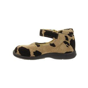 PRIMIGI Tan & Brown Cow Print Suede Shoes